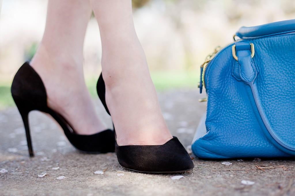 Zara Black Court Shoe and JCrew Bag