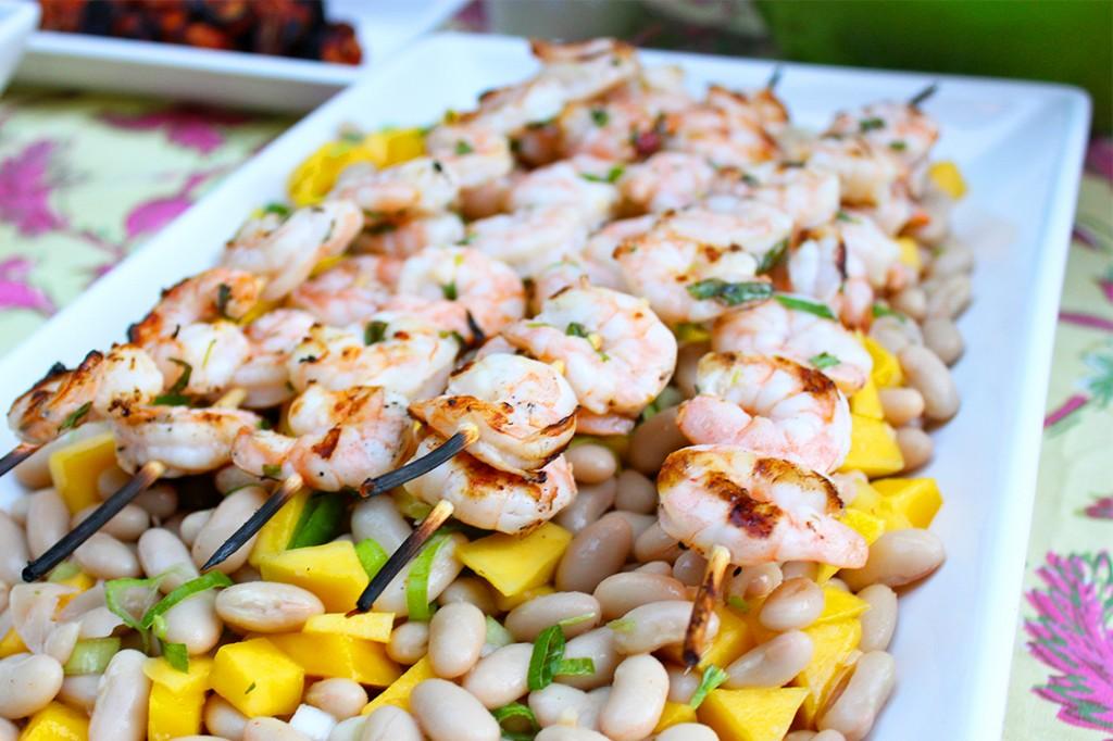 Style Bee - Tarragon Shrimp and Mango Bean salad.