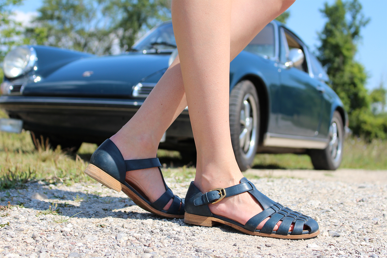 Church's sandals and a Porsche 911