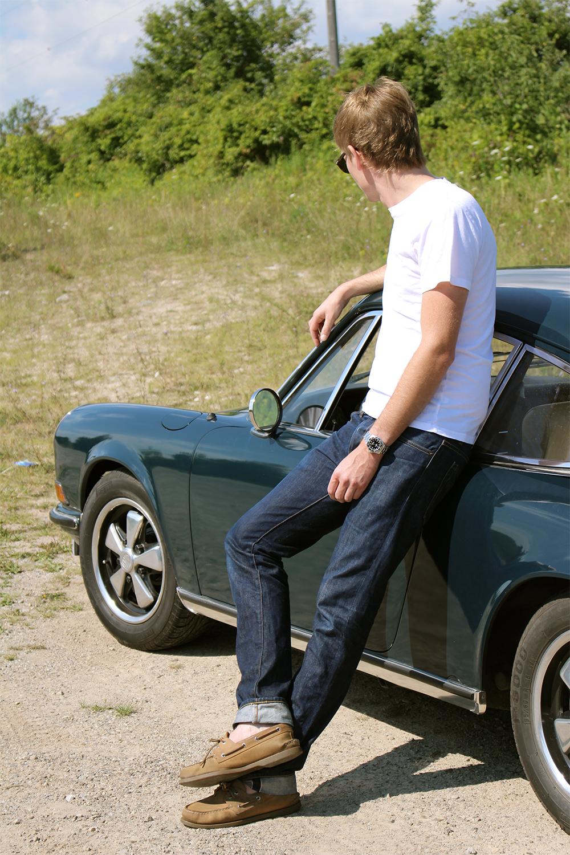 Man and a 1969 Porsche 911