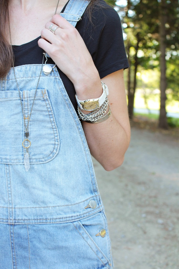Overalls and accessories.