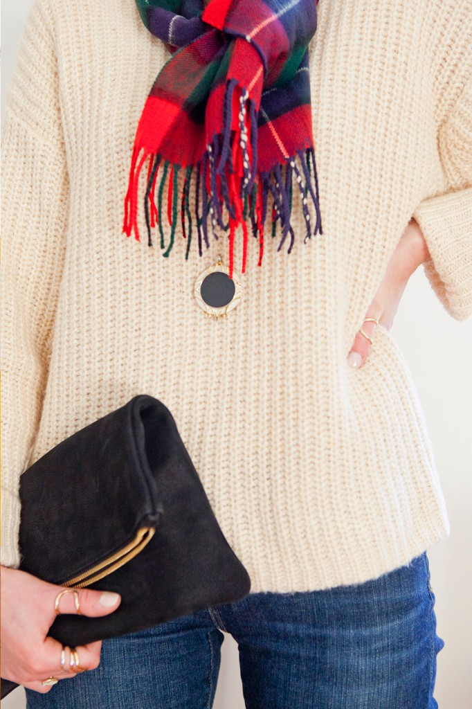 Style bee in a ganni sweater from blush shop.