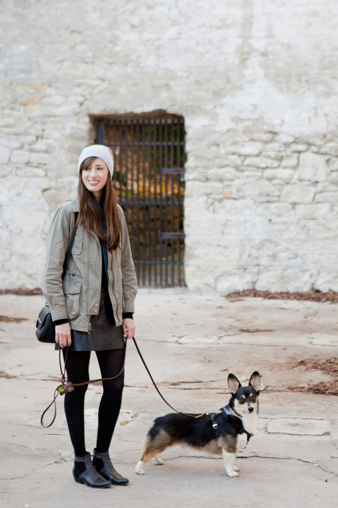 Style Bee walking with Dobby.