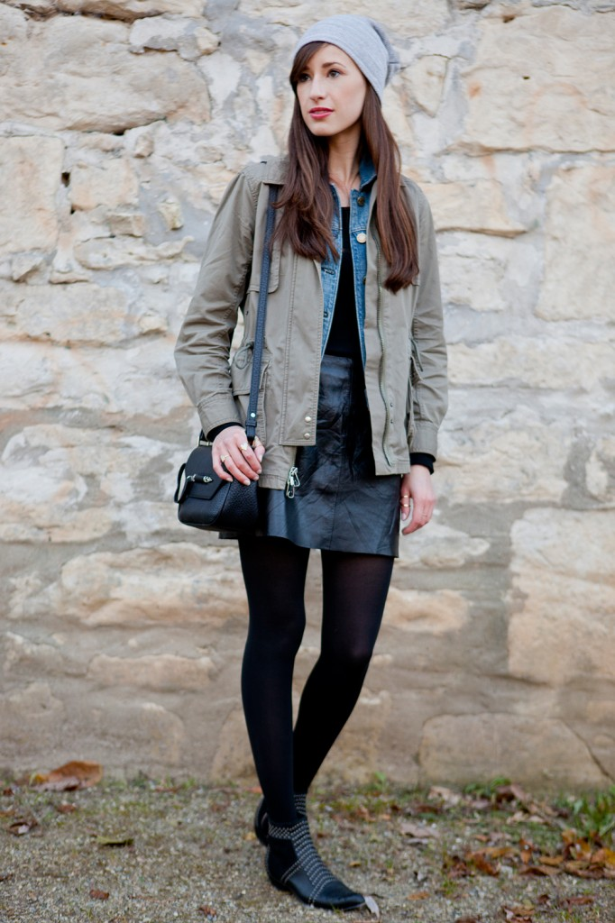 Style Bee in a layered look.