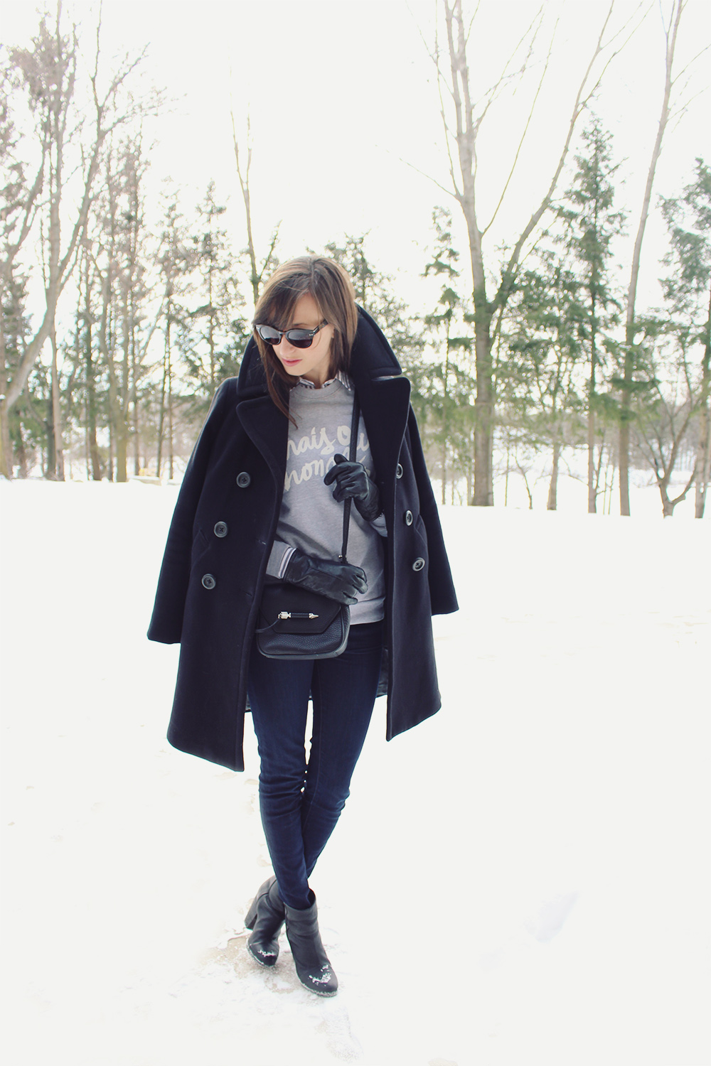 Style Bee - Mais Oui, Mon Cherie Sweatshirt and all black.