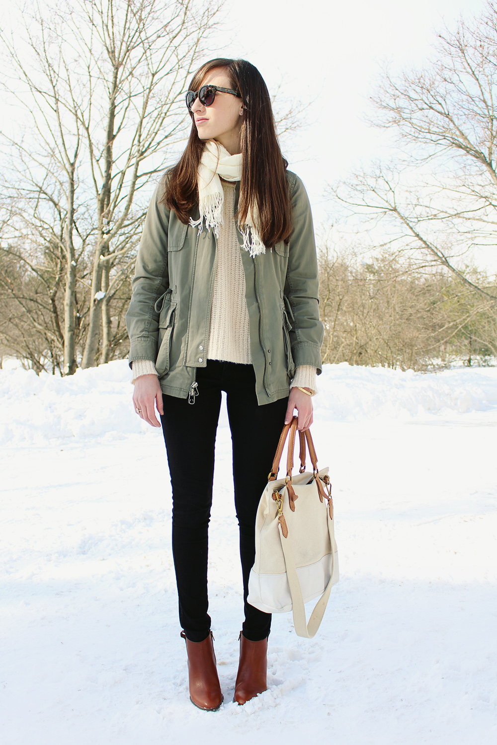 Style Bee Outfit - Utility Jacket and Neutrals