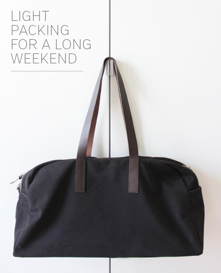 Style Bee - Light Packing - Everlane Weekender