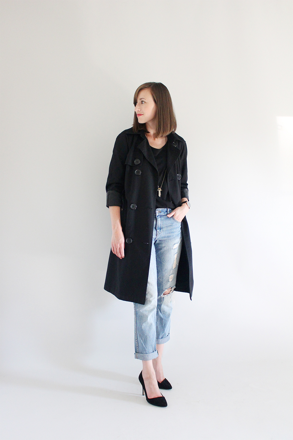 Style Bee - Black Trench