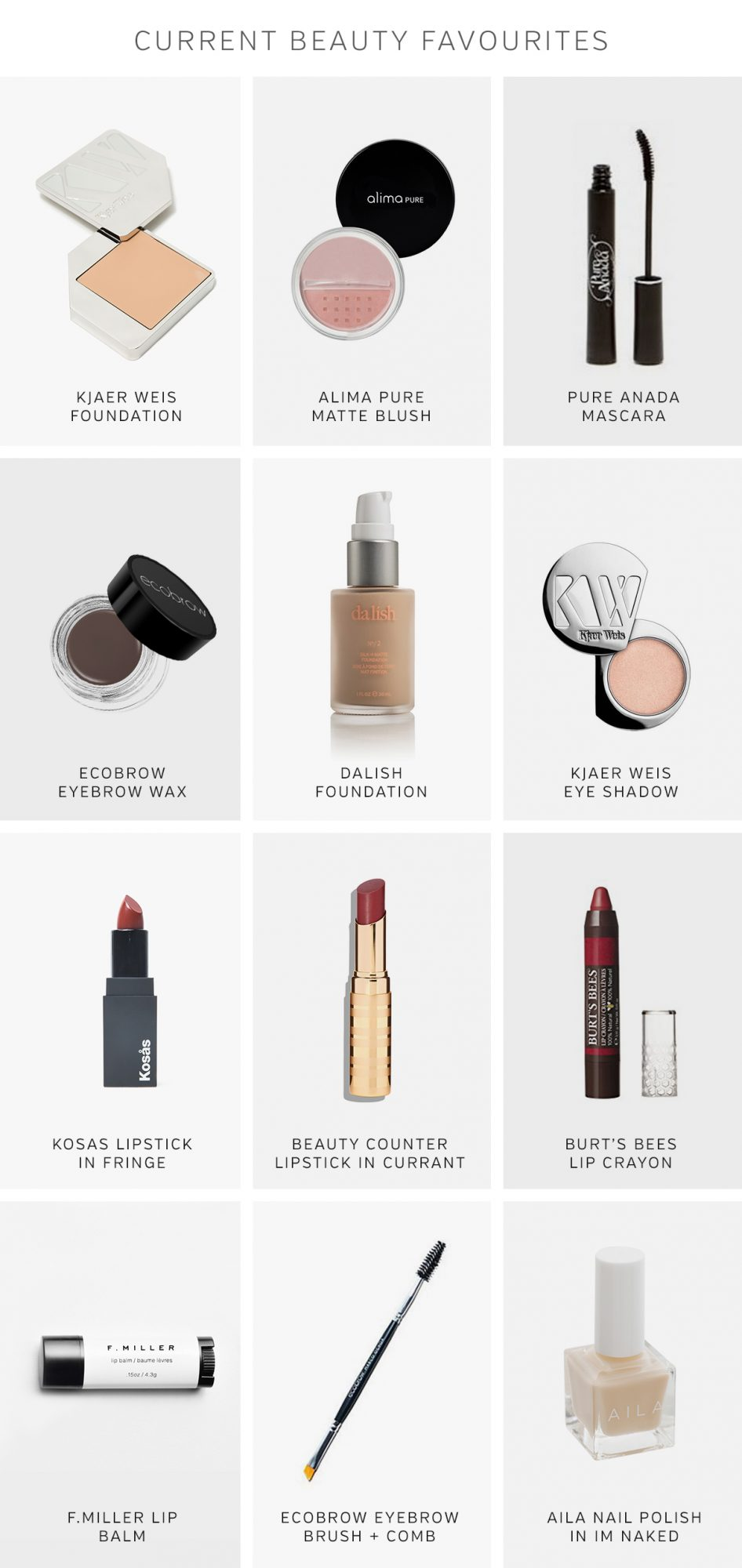 Style Bee - Current Beauty Favourites