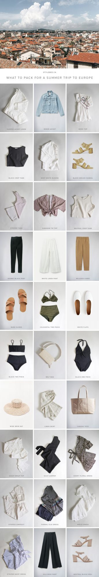 Style Bee - A Summer Trip To Europe - How + What to Pack